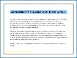 Administrative Cover Letter Example Administrative Assistant Cover Letter Doc 214