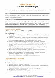 Auto Service Manager Resumes Assistant Service Manager Resume Samples Qwikresume