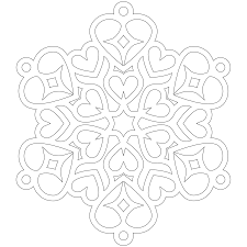 Heart Snowflake Coloring Page Christmas Snowflake Coloring Pages