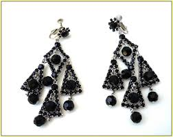 large black chandelier earrings home design ideas