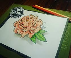 сделать татуировку цветной пион на живот в городе краснодар по