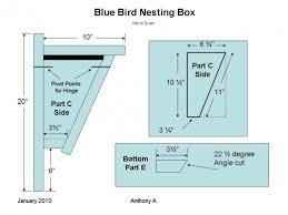 bluebird house plans. Bluebird Nest Box Plans: How To Build A Peterson House Plans