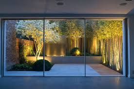 feature lighting ideas. Landscape Wall Lighting Ideas Garden Contemporary With Water Feature At . I