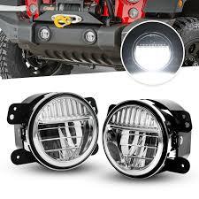 Fog Light Design Details About 4 Led Fog Lights For Jeep Wrangler Jl Jlu Rubicon Sahara 18 19 Plastic Bumper