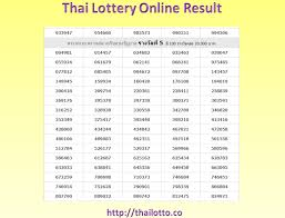 Thai Lottery Result Chart 2018 Download Thailand Lottery Result Of 2018 March 02 Just Check Online