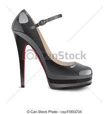 shoes heels drawing. black high heels shoes - csp11803734 drawing