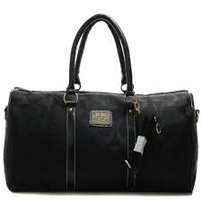 Coach Bleecker Monogram In Signature Large Black Luggage Bags AFK