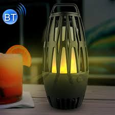 more views led flame lamp wireless bluetooth speaker