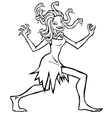 Small Picture Medusa Walking Around Coloring Page NetArt