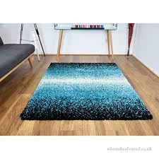 modern 120x170cm large teal blue black 3 tone mix gy area rugs mat 5cm thick soft