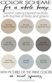 paint color schemePaint Color Home Tour NatureInspired Neutrals  Maison de Pax