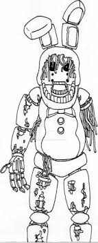 Fnaf Coloring Pages Withered Bonnie Part 3 Fnaf Coloring Pages