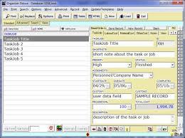 Job Task List Template