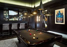 room with pool table