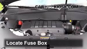 replace a fuse 2013 2016 gmc acadia 2013 gmc acadia slt 3 6l v6 locate engine fuse box and remove cover