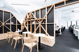 office area design. One Of The Structures Adjacent To Quartz\u0027s Open Office Area Is A Café-style Nook, Designed As Change-of-pace Work Area. It\u0027s Suitable For Working Alone Or Design