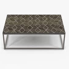 ... Restoration Hardware Metall Parquet Coffee Table 3d Model Max Obj Fbx  Mtl 2 ...