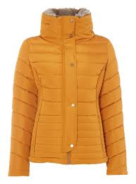 Womens Yellow Quilted Padded Jacket | Tu clothing & Yellow Quilted Padded Jacket Adamdwight.com