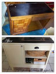 Desk In Kitchen Remodelaholic Upcycled Vintage Desk Into Kitchen Island With Storage