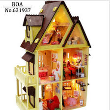 wholesale wooden doll dinning house furniture. wonderful doll wholesale diy wooden doll house with furniture light model building kits  3d miniature dollhouse puzzle dolls toy giftsmy little from dropshipping  intended wholesale dinning a