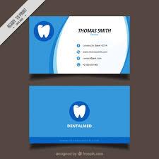 dental visiting card design dental clinic business card vector free download