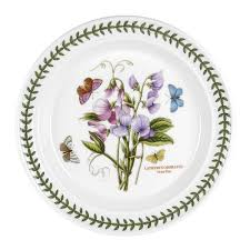 portmeirion botanic garden 10 inch dinner plate sweet pea royal worcester uk