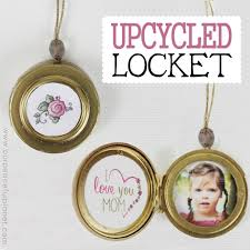 this cute upcycled locket necklace will put a grin on anyone s face and makes a wonderful blank630x20