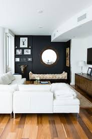 Accent black wall for a small living room