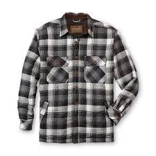 Northwest Territory Men's Quilted Flannel Shirt Jacket- Plaid &  Adamdwight.com