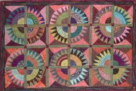 crown of thorns rug 36 x 22 designed and hooked with
