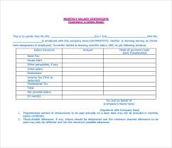 Salary Certificate Template As Salary Slip Format Word Doc New 6
