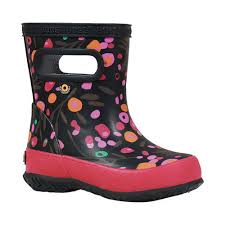 Infant Bogs Skipper Kids Boot Size 10 M Black Multi Cattail