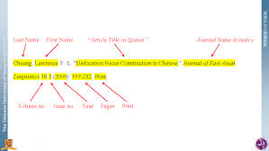 Mla Citation Mla Style Citation Styles Libguides At The Chinese