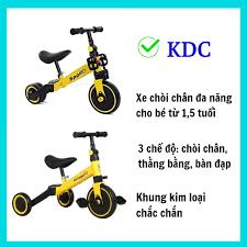 Xe 3 bánh bàn đạp KDC Đa Năng 3in1 Chòi Chân Thằng Bằng Tăng Cường Vận Động  cho bé từ 1.5 Tuổi