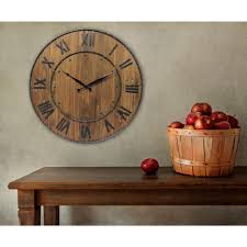 infinity instruments wine barrel 24 in h x 24 in w round wall clock