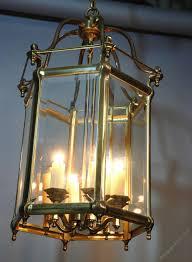 photos large good quality hexagonal brass hall lantern