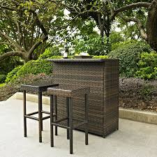 wicker bar height dining table: full size of patio amp outdoor modern crosley  pc palm harbor outdoor wicker bar