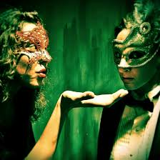 stage and cinema theater review all girl edgar allan poe the moira begale and becky blomgren in masque of the red death part of all girl