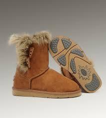 UGG Fox Fur Short Boots 5685 Chestnut Hot Sale
