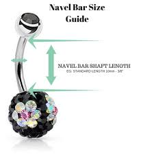 Piercing Length Chart Bellylicious Belly Ring Sizing Chart Body Piercing Size