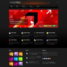 Flash Website Templates Black Website Templates 6