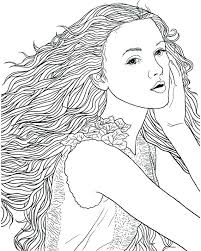Recolor Coloring Pages Hair Happy Picture High Definition Free Color