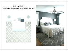 rug placement under bed the rules of layout it must be big be liner reviews bedroom stylish queen bed area rug