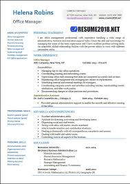 Resume Examples For Office Manager Enchanting Office Manager 28 Resume Samples In Word Resume 28