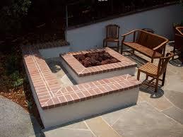 concrete patio with square fire pit. Backyard Brick Fire Pit Ideas Concrete Patio With Square S
