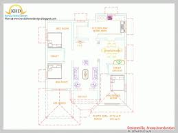 top photo of single floor house plan and elevation 1170 sq ft single floor