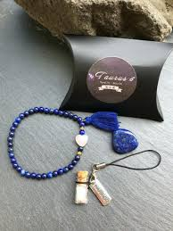 taurus gemstone jewelry kit lapis lazuli bracelet warrior