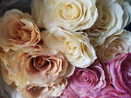 BELLISSIMO mazzo di 9 Grandi Seta eternità Rose Matrimonio Bouquet di Fiori  Craft | eBay