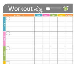 Exercise Logs Template Basic Workout Logs Printable Threeroses Us