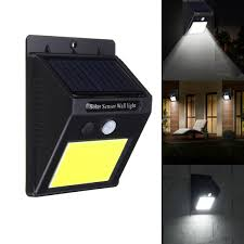 solar power 48 led pir motion sensor wall light waterproof outdoor ga